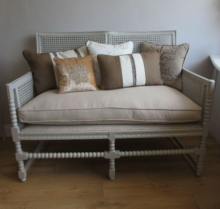 Re-upholstered Bergere Sofa
