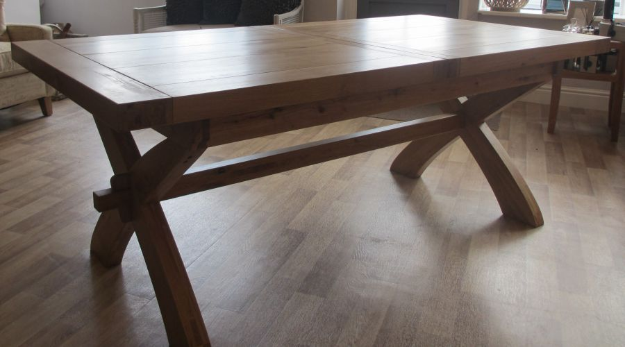 Solid wood rustic non extendable dining table for Non wood dining table