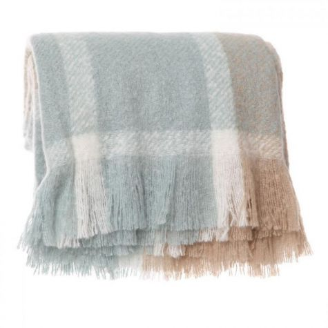Blue and Brown Check Throw