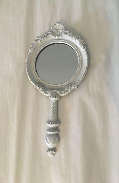 White Mirror with Handle