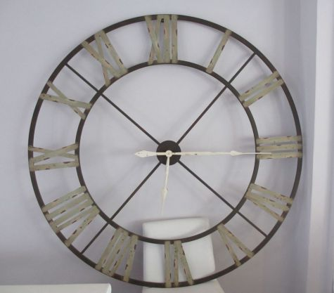 Aged Wrought Iron Clock