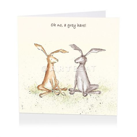 Oh no, a grey hare!