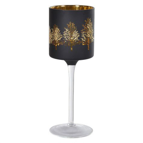 Gold Tree Goblet Candle Holder