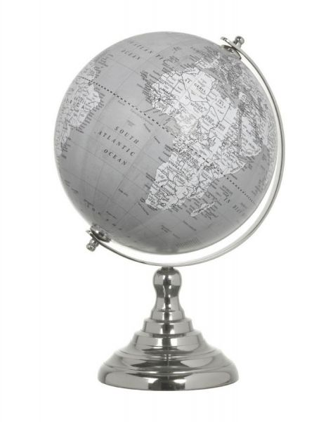 Grey and White Globe