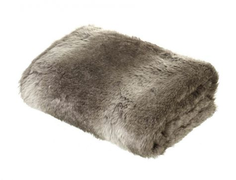 Brown Faux Fur Throw