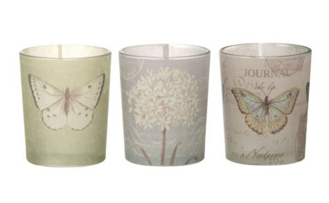 Butterfly Tealight Holders S/3