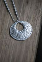 Short Ball Chain with Disc Pendant