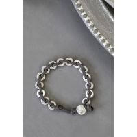 Suede and Ring Bead Bracelet
