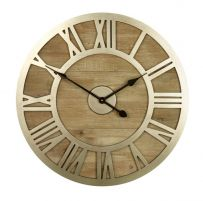 Wood and Silver Clock