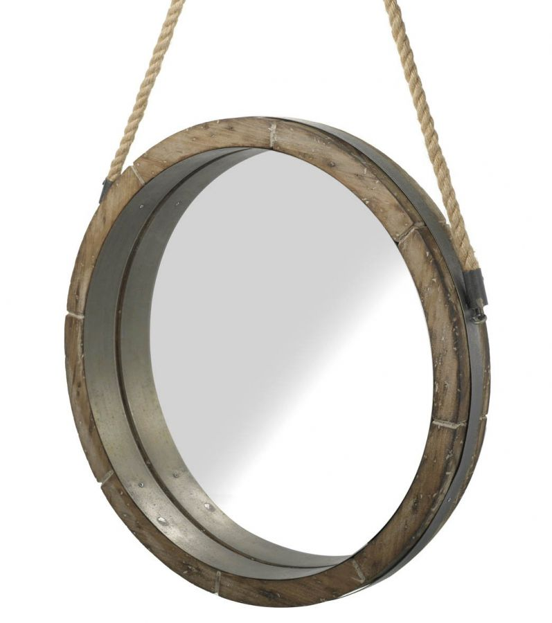 round mirror with rope handle. Black Bedroom Furniture Sets. Home Design Ideas